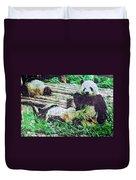 3722-panda -  Watercolor 2 Sl Duvet Cover