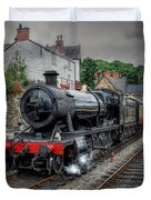 3802 At Llangollen Station Duvet Cover