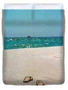 #384 33a Sandals On The Beach - Destin Florida Duvet Cover