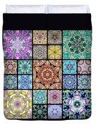 3d Cosmic Sample Grid Duvet Cover