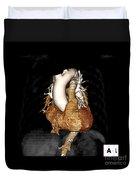 3d Ct Of Normal Heart Duvet Cover