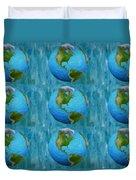 3d Render Of Planet Earth 1 Duvet Cover