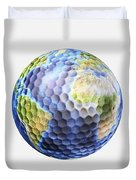 3d Rendering Of A Planet Earth Golf Duvet Cover