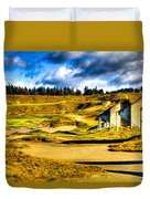 #18 At Chambers Bay Golf Course - Location Of The 2015 U.s. Open Tournament Duvet Cover