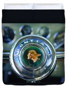1933 Pontiac Steering Wheel Emblem Duvet Cover