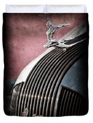 1935 Pontiac Sedan Hood Ornament Duvet Cover