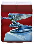 1936 Packard Hood Ornament Duvet Cover