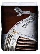 1938 Dodge Ram Hood Ornament Duvet Cover