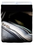 1954 Cadillac Coupe Deville Emblem Duvet Cover