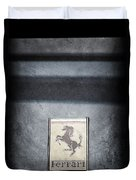 1956 Ferrari Emblem Duvet Cover
