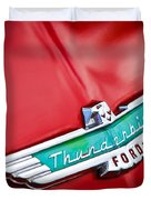 1956 Ford Thunderbird Emblem Duvet Cover