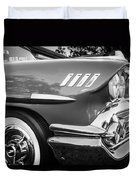 1958 Chevrolet Bel Air Impala Painted Bw  Duvet Cover