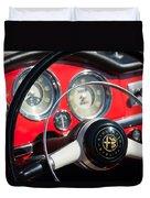1961 Alfa Romeo Giulietta Spider Steering Wheel Emblem -1239c Duvet Cover