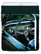1965 Shelby Prototype Ford Mustang Steering Wheel Emblem Duvet Cover