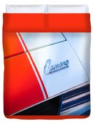 1969 Chevrolet Camaro Rs-ss Indy Pace Car Replica Hood Emblem Duvet Cover by Jill Reger