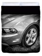 2010 Ford Mustang Convertible Bw Duvet Cover