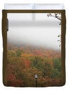 A Foggy Autumn Day At The United States Military Academy At West Duvet Cover