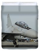 A Sukhoi Su-30mkm Of The Royal Duvet Cover