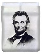 Abraham Lincoln Duvet Cover by Anonymous