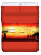 Africa Sunset Duvet Cover by Michal Boubin