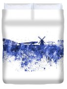 Amsterdam Skyline In Watercolor On White Background Duvet Cover