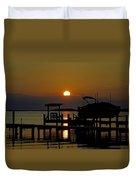 An Outer Banks North Carolina Sunset Duvet Cover