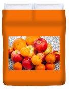 Apple Tangerine And Oranges Duvet Cover