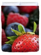 Assorted Fresh Berries Duvet Cover