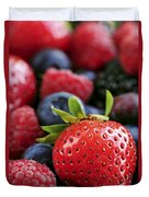 Assorted Fresh Berries Duvet Cover