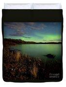 Aurora Borealis Northern Lights Display Duvet Cover