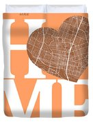 Austin Street Map Home Heart - Austin Texas Road Map In A Heart Duvet Cover