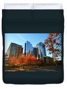 Autumn In Boston Duvet Cover