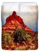 Bell Rock Vortex Painting Duvet Cover