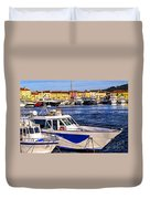 Boats At St.tropez Duvet Cover by Elena Elisseeva