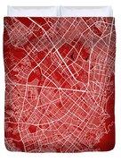 Bogota Street Map - Bogota Colombia Road Map Art On Colored Back Duvet Cover