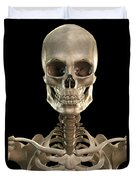 Bones Of The Head And Upper Thorax Duvet Cover