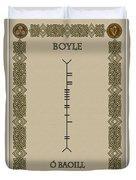 Boyle Written In Ogham Duvet Cover