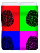 4 Brain Pop Art Panel Duvet Cover