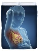 Breast Examination Duvet Cover