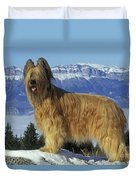 Briard Dog Duvet Cover by Jean-Michel Labat