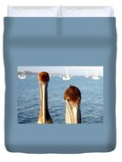 California Pelicans Duvet Cover