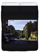 Car In A Queue Waiting For A Signal In Edinburgh Duvet Cover