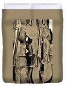 4 Cellos Sepia Duvet Cover