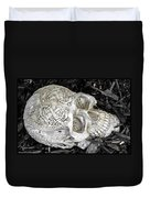 Celtic Skulls Symbolic Pathway To The Other World Duvet Cover