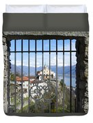 Church Madonna Del Sasso Duvet Cover