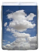 Clouds And Field Duvet Cover