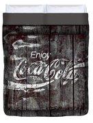 Coca Cola Sign Duvet Cover