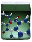 Cocaine Molecule Duvet Cover