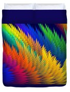 Computer Generated Abstract Fractal Flame Duvet Cover