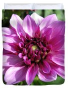 Dahlia Named Blue Bell Duvet Cover